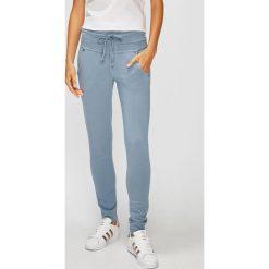 Answear - Spodnie. Szare spodnie materiałowe damskie ANSWEAR, z bawełny. W wyprzedaży za 79.90 zł.