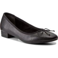 Półbuty TAMARIS - 1-22201-39 Black Leather 003. Czarne półbuty damskie Tamaris, z materiału. W wyprzedaży za 169.00 zł.
