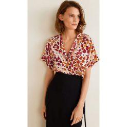 Mango - Koszula Topete. Różowe koszule damskie Mango, z materiału, z krótkim rękawem. Za 139.90 zł.