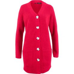 Sweter rozpinany, długi rękaw bonprix czerwony. Czerwone kardigany damskie bonprix. Za 99.99 zł.