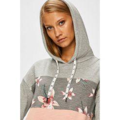 Roxy - Bluza. Szare bluzy damskie Roxy, z bawełny. Za 279.90 zł.