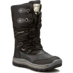 Śniegowce GEOX - J Overland B ABX B J540FB 0FU54 C0495  Czarny/Złoty. Śniegowce dziewczęce marki Geox. W wyprzedaży za 209.00 zł.