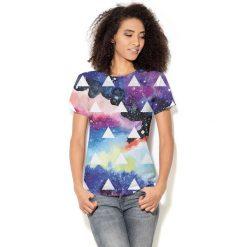Colour Pleasure Koszulka CP-030  67 granatowo-fioletowa r. XL/XXL. T-shirty damskie Colour Pleasure. Za 70.35 zł.
