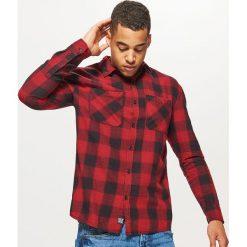 Koszula w kratę - Czerwony. Czerwone koszule męskie Cropp. Za 89.99 zł.