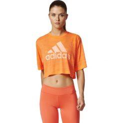 Adidas Koszulka Boxy Crop Tee Aeroknit pomarańczowy r. M (BP8188). Bluzki damskie Adidas. Za 99.82 zł.