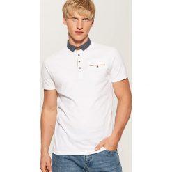 Koszulka polo z kontrastowymi detalami - Biały. Białe koszulki polo męskie House. Za 59.99 zł.