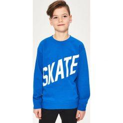 Bluza z napisem skate - Niebieski. Bluzy dla chłopców Reserved, z napisami. Za 39.99 zł.
