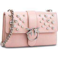 Torebka PINKO - Love Leather Pearls Tracolla Al 18-19 PLTT 1P216H Y4YB Light Pink P26. Czerwone torebki do ręki damskie Pinko, ze skóry. Za 1,639.00 zł.