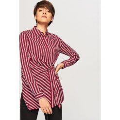 Koszula w paski - Bordowy. Czerwone koszule damskie Reserved, w paski. Za 69.99 zł.