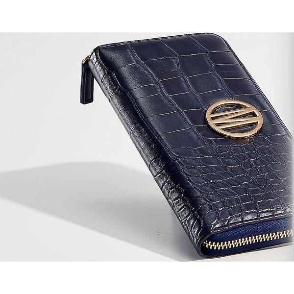 628fac1c6aed6 Portfel z wytłoczonym wzorem - Granatowy - Portfele damskie marki ...