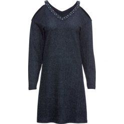 Sukienka dzianinowa bonprix indygo melanż. Niebieskie sukienki damskie bonprix, melanż, z dzianiny. Za 119.99 zł.