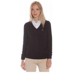 Polo Club C.H..A Sweter Damski S Czarny. Czarne swetry damskie Polo Club C.H..A, dekolt w kształcie v. W wyprzedaży za 239.00 zł.