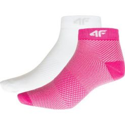 Skarpetki damskie (2 pary) SOD204 - różowy neon+biały. Białe skarpety damskie 4f, z dzianiny. Za 24.99 zł.