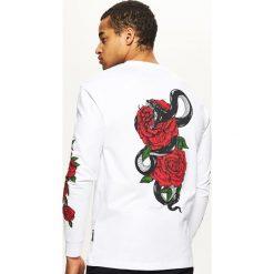 Koszulka z długim rękawem - Biały. Białe bluzki z długim rękawem męskie Cropp. Za 59.99 zł.