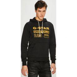 G-Star Raw - Bluza. Czarne bluzy męskie G-Star Raw, z nadrukiem, z bawełny. Za 369.90 zł.