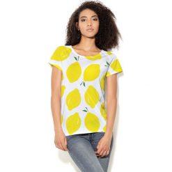 Colour Pleasure Koszulka damska CP-034 65 biało-żółta r. M-L. T-shirty damskie Colour Pleasure. Za 70.35 zł.