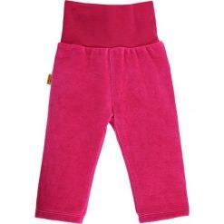 Spodnie w kolorze różowym. Spodenki niemowlęce Steiff, z aplikacjami, z materiału. W wyprzedaży za 32.95 zł.