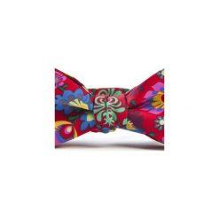 Mucha wiązna FOLK kwiaty łowickie. Czerwone krawaty i muchy Hisoutfit, w kwiaty, z materiału, wizytowe. Za 89.00 zł.