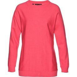 Sweter z rękawami typu nietoperz bonprix jasnoróżowy. Swetry damskie marki bonprix. Za 49.99 zł.