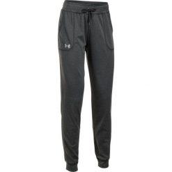 Under Armour Spodnie Dresowe Tech Pant Solid Carbon Heather Metallic Silver L. Brązowe spodnie dresowe damskie Under Armour, z dresówki. W wyprzedaży za 139.00 zł.
