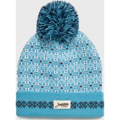 True Spin - Czapka Zaporozhets. Niebieskie czapki i kapelusze damskie True Spin, z dzianiny. W wyprzedaży za 49.90 zł.