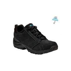 Skórzane buty do szybkiego marszu Nakuru Novadry wodoodporne czarne. Buty sportowe męskie marki B'TWIN. W wyprzedaży za 229.99 zł.