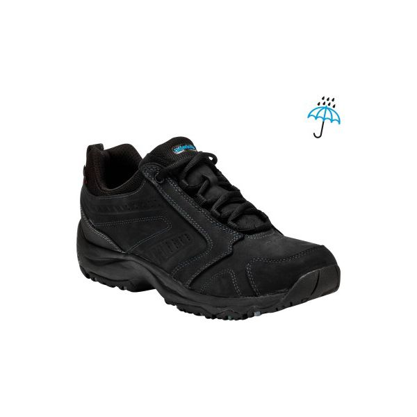 8c3ac3a5e5241 Skórzane buty do szybkiego marszu Nakuru Novadry wodoodporne czarne ...