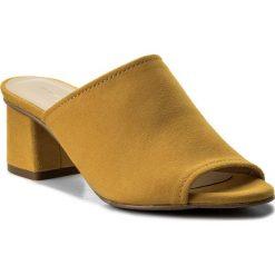 Klapki BRENDA ZARO - T2562A Aina. Żółte klapki damskie Brenda Zaro, z materiału. W wyprzedaży za 219.00 zł.