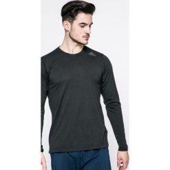 Adidas Performance - Longsleeve. Czarne bluzki z długim rękawem męskie adidas Performance, z dzianiny, z okrągłym kołnierzem. W wyprzedaży za 99.90 zł.