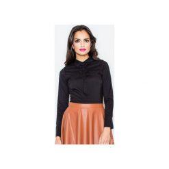 Bluzka M001 Czarny. Czarne bluzki damskie Figl, z bawełny, z długim rękawem. Za 76.00 zł.
