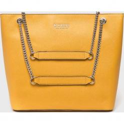 Guess Jeans - Torebka. Brązowe torby na ramię damskie Guess Jeans. Za 599.90 zł.