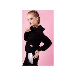 BOKSERSKA BLUZA ALEX - CZARNA. Czarne bluzy damskie Madnezz, z aplikacjami, z zamszu. Za 179.00 zł.