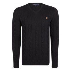 Giorgio Di Mare Sweter Męski L Czarny. Czarne swetry przez głowę męskie Giorgio di Mare, z bawełny. W wyprzedaży za 199.00 zł.