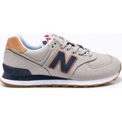 New Balance - Buty ML574YLB. Szare buty sportowe męskie New Balance, z gumy. W wyprzedaży za 269.90 zł.