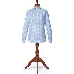 Koszula w Kratę Clyde. Niebieskie koszule męskie LANCERTO, na zimę, w kratkę, z bawełny, button down. Za 299.00 zł.