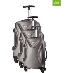 Zestaw walizek w kolorze szarym - 3 szt. Walizki męskie Platinium, z materiału. W wyprzedaży za 689.95 zł.