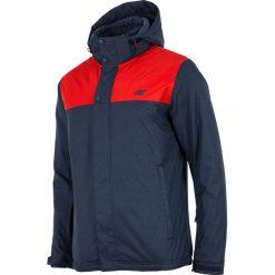 Kurtka narciarska męska KUMN351Z - granatowy melanż. Czerwone kurtki męskie 4f, na jesień, melanż, z materiału. W wyprzedaży za 199.99 zł.
