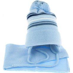 Czapka dziecięca z szalikiem CZ+S 018F niebieska r. 46-50. Czapki dla dzieci marki Reserved. Za 45.25 zł.