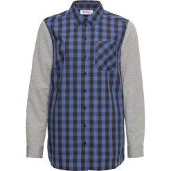 Koszula w kratę z rękawami z dzianiny shirtowej bonprix czarno-niebieski. Koszule damskie marki SOLOGNAC. Za 32.99 zł.