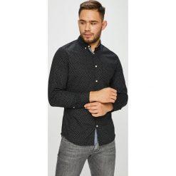Jack & Jones - Koszula. Czarne koszule męskie Jack & Jones, z bawełny, button down, z długim rękawem. W wyprzedaży za 89.90 zł.