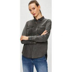 Vero Moda - Koszula. Szare koszule damskie Vero Moda, z bawełny, casualowe, z klasycznym kołnierzykiem, z długim rękawem. W wyprzedaży za 129.90 zł.