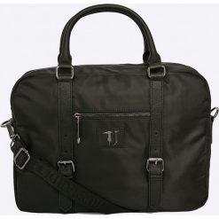 Trussardi Jeans - Torba Brooklin. Czarne torby na laptopa męskie TRUSSARDI JEANS, w paski, z jeansu. W wyprzedaży za 359.90 zł.