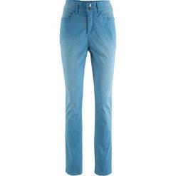 Spodnie ze stretchem i wygodnym paskiem w talii bonprix niebieski dżins. Jeansy damskie marki bonprix. Za 44.99 zł.