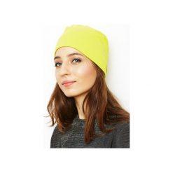 Czapka limonka/ organiczna bawełna. Żółte czapki i kapelusze damskie Siss, z bawełny. Za 65.00 zł.