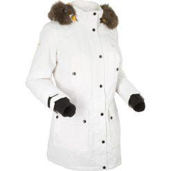 Kurtka outdoorowa z kapturem bonprix biel wełny. Białe kurtki damskie bonprix, z wełny. Za 269.99 zł.