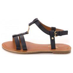 Tom Tailor Sandały Damskie 40 Ciemnoniebieski. Brązowe sandały damskie Tom Tailor. W wyprzedaży za 115.00 zł.