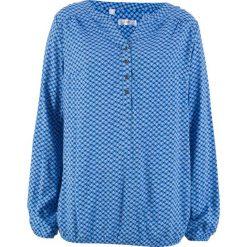 Tunika z długim rękawem bonprix lodowy niebieski. Niebieskie tuniki damskie bonprix, z długim rękawem. Za 74.99 zł.