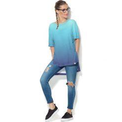 Colour Pleasure Koszulka CP-033  60 niebiesko-granatowa r. uniwersalny. Bluzki damskie Colour Pleasure. Za 76.57 zł.