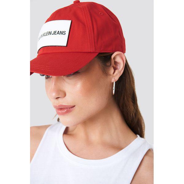 Calvin Klein Czapka Calvin Klein Jeans Cap W - Red - Czerwone czapki ... 700b55f5fb04