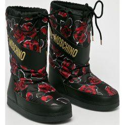 Love Moschino - Śniegowce. Czarne śniegowce i trapery damskie Love Moschino, z gumy. Za 679.90 zł.